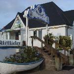 Das Restaurant Kliffkieker liegt direkt am Rand der Steilküste
