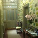 Pretty hallway, with fresh flowers - very welcoming.