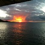 sunset from the Ocean view Bar