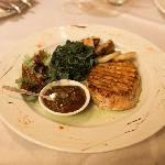 The Blues: barbecue pork with spinach