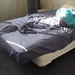 mattress overhanging the boxspring is not supporting a good nights sleep (luckily we brought our