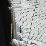 everything old and in disrepair including the blinds