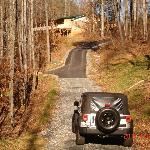 The driveway to the cabin...a bit steep!