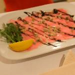 Jazzster: pink tuna carpaccio