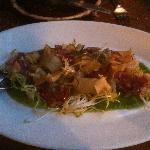 Salami salad, sunchokes and cardoons