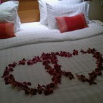 Our honeymoon welcome xx