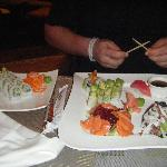 sushi from the mexican restaurant