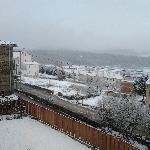 H. rural Cuarto de Milla - Jardin con nevada