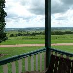 views from both the verandah & inside the cottage, which has lots of glass, were great.