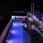 The New Pool at night.