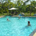 the nice pool area