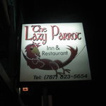 Lazy Parrot sign