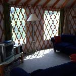yurt lounge area