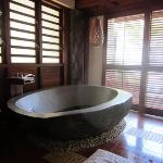 Stone carved bath tub