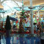 Christmas Decoration located in the center