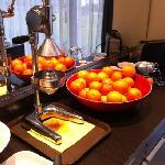 oranges at breakfast
