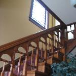 Up the stairs...nice restored wood