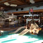 Pirate Ship Pool and Waterslide