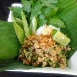 Larb (Pork/Beef Salad with Toasted Rice)