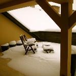 Kapital Inn Budapest Terrace in winter