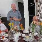 Host Niel describes birthday menu
