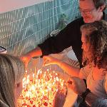 Hosts prepare scintillating birthday cake