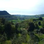 The view was the agriturismo.