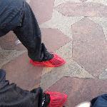 Elegant (not) Taj over-slippers