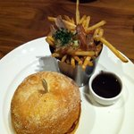 Burger with Duck Poutine