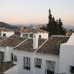 View from our room - Alhambra just visible