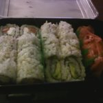 The sushi we ordered for takeout