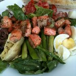 Salmon nicoise salad at Va Bene