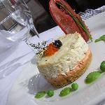 Warm Crab & Mull Cheddar Cheesecake