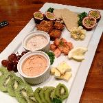 Auckland City Tastes Tour platter our guests enjoy at the Seafood and Boutique Food Market