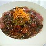 Delicious fresh Tuna carpaccio