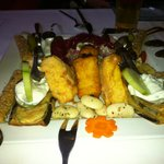 A delicious appetizer plate at El Greco