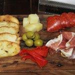 Prosciutto & Chorizo (I think) w/ Manchego