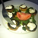 goat cheese stuff in mushrooms