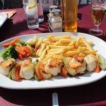 Monkfish and Vegetable Brochetta