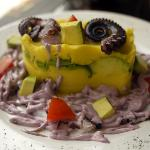 olive and octopus causa