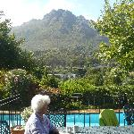 Granny at the poolside.
