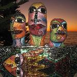 Sculpture at Cottesloe beach.