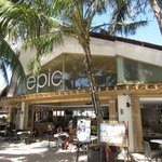 Exterior view of Epic, right on the beach.