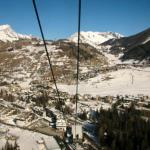 Looking down on La Thuile from cable car