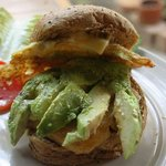 Avocado tofu cheese & egg sandwich
