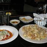 Fabulous rollatini and calamari only $5 at the bar between 5-7 pm