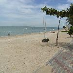 北パタヤのビーチ