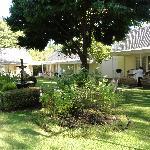 The cottages around the rosegarden