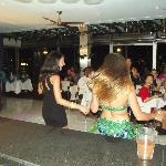 Our lovely Bellydancer giving free lesson