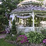 Gazebo in Dunrobin Gardens - a favorite for weddings or simply relaxing
